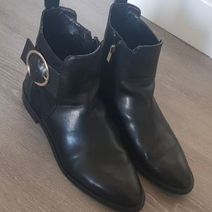 Zara Women Black Ankle Boots
